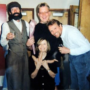 Director Barbara Damashek with The Spuds (Idaho) from Oregon Shakespeare Festival's 1998 Production Of Vilna's Got A Golem