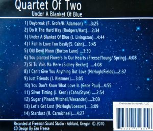 Under a Blanket of Blue by Quartet of Two